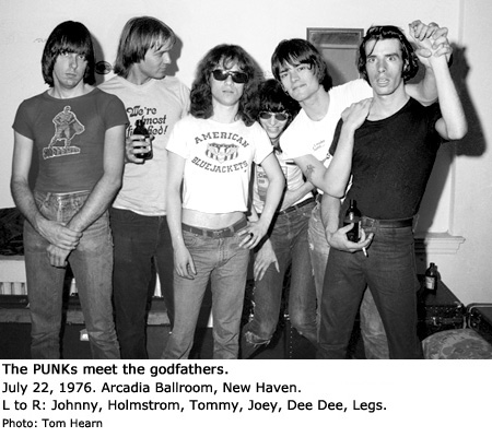 The PUNKs and The Ramones, 7/22/76, Photo by Tom Hearn